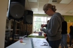 AmeriCorps Volunteer, Heidi, Constructing a Bean Trellis