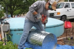 AmeriCorps Volunteer, Crystal, Building Food-Digesters