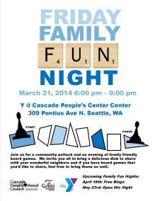 March Family Fun Night